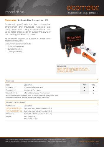 Elcometer Automotive Inspection Kit