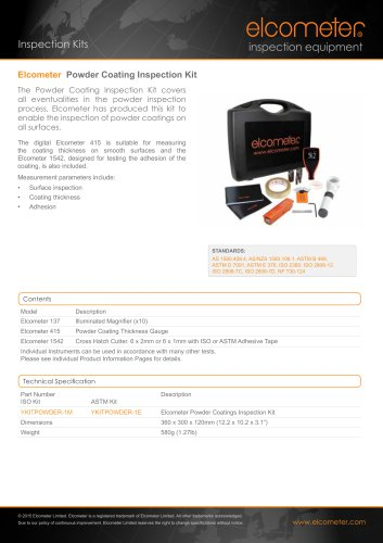 Elcometer - Powder Coating Inspection Kit
