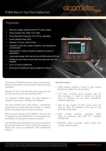 FD800 Bench Top Flaw Detectors
