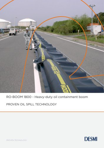 RO-BOOM 1800 - Heavy-duty oil containment boom