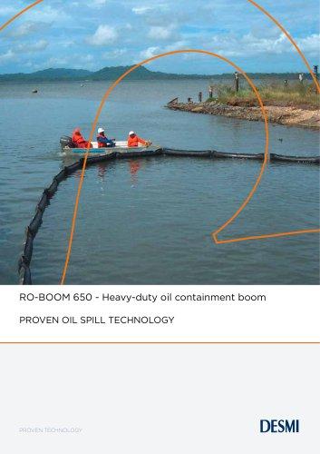 RO-BOOM 650 - Heavy-duty oil containment boom