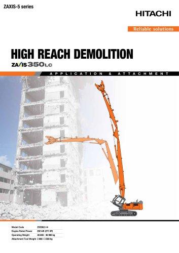 HIGH REACH DEMOLITION ZX350-LC