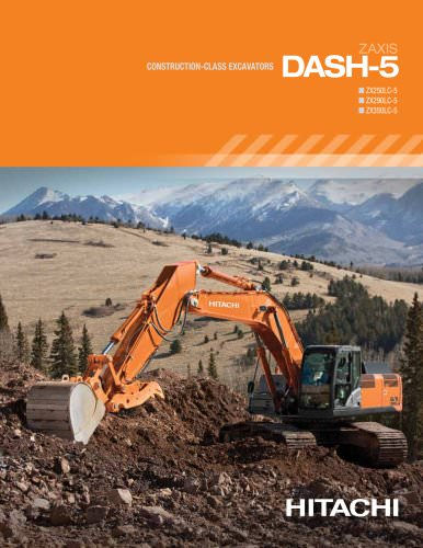 Construction-Class Excavators DASH-5