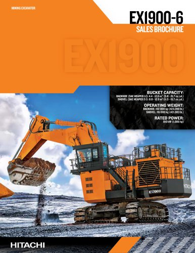 EX1900-6 SALES BROCHURE