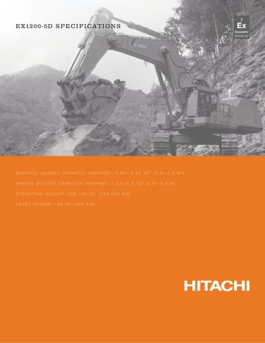 Hitachi Mining excavators