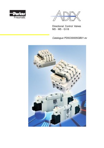 Adex Directional Control Valves - PDE2622TCUK