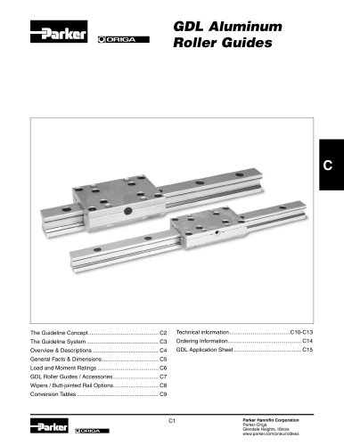 GDL Aluminum Roller Guides