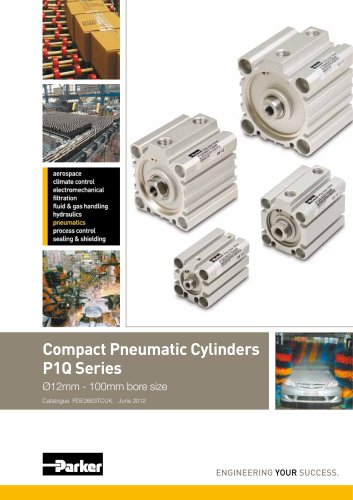 Pneumatic Cylinders - Compact P1Q Series Technical Catalogue - PDE2663TCUK