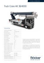 Truck Crane AK 36/4000