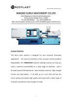 Horizontal injection molding machine TH130