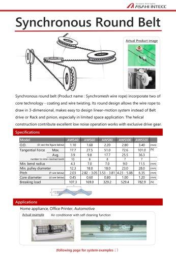 Synchronous round belt