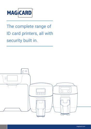 The complete range of ID card printers, all with security built in