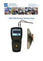 Ultrasonic Thickness Gauge TIME2190 with A Scan B scan