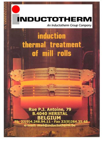 MTCL Mill roll hardening machines catalogue