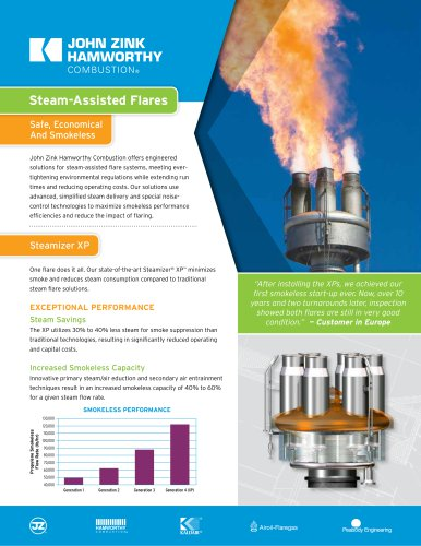 Steam-Assisted Flares