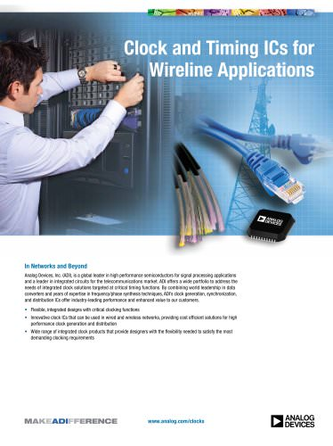 Clock and Timing ICs for Wireline Applications
