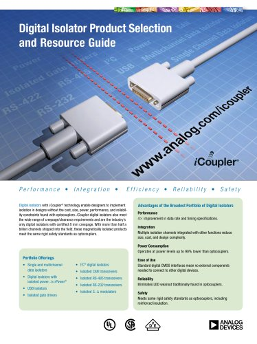 Digital Isolator Product Selection and Resource Guide