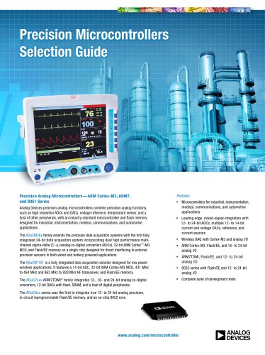 Precision Microcontrollers Selection Guide