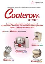 """COATEROW"" CENTRIFUGAL COATING MACHINE for FOOD"