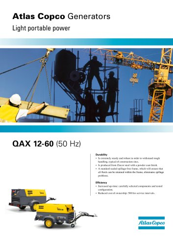 QAX 12-60: On-site generators
