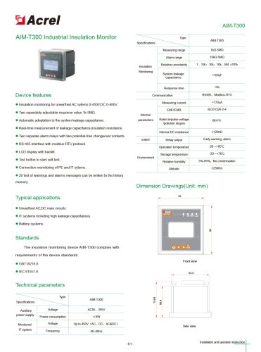 AIM-T300 insulation monitoring device