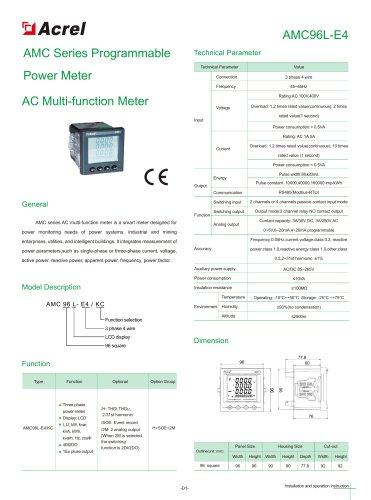 AMC96L-E4/KC Multifunction Meter