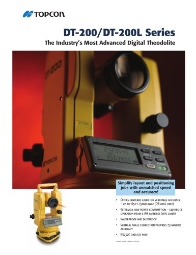 DT-200 series  DIGITAL THEODOLITE