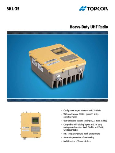 SRL-35 Heavy-Duty UHF Radio