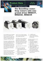 The QuickStep motor. Step motors with integrated driver MIS231, MIS232, MIS234