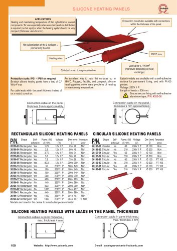 SILICONE HEATING PANELS