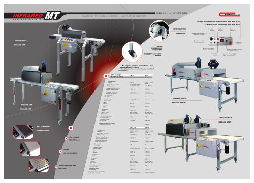 Drying Infrared Ovens model MT