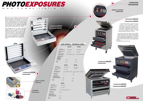 PHOTOEXPOSURE Units model BR