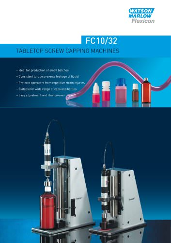 Flexicon FC10/32 tabletop screw capping system