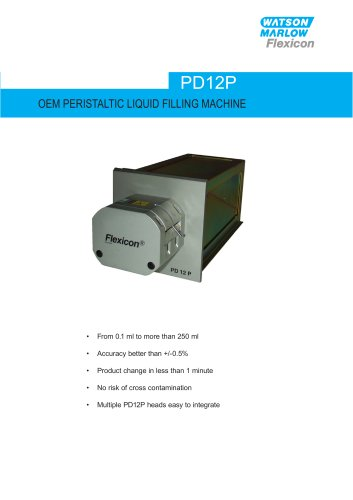 OEM Peristaltic liquid filling machine 0.1ml to 250ml