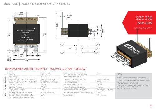 2kW-6kW Planar Transformers   Size 350