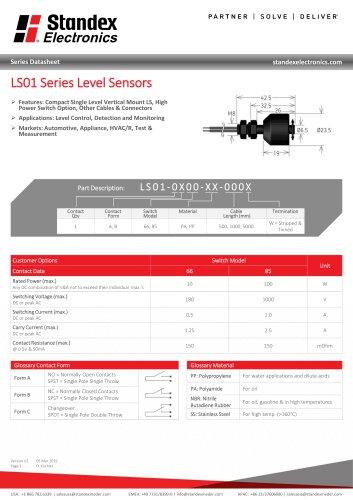 LS01 Series Data Sheet