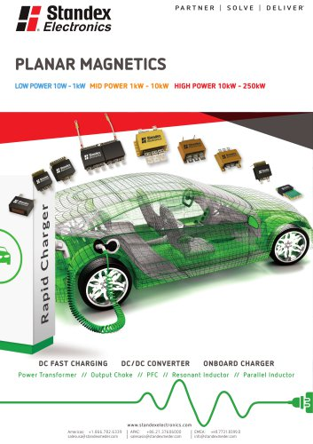 Product Solutions - Planar Magnetics