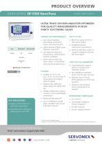 SERVOPRO DF-550E NanoTrace Product Brochure