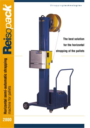 Semi-automatic horizontal strapping machine