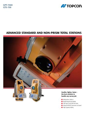 Advanced Standard and Non-Standard Total Stations (GPT-7500, GTS-750)
