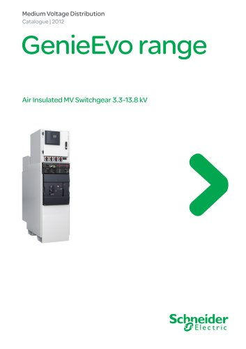 Catalogue GenieEvo Metalclad switchgear up to 13.8 kV - part1/9