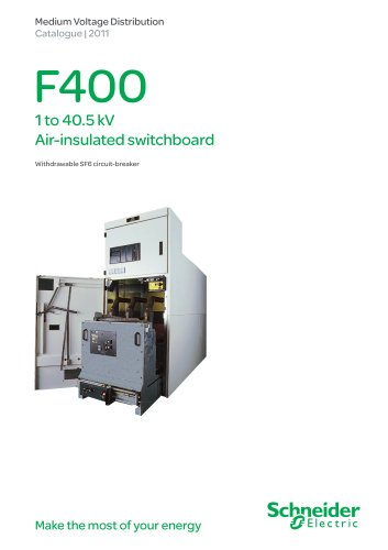 F400 Air insulated switchboard (1 to 40.5 kV)