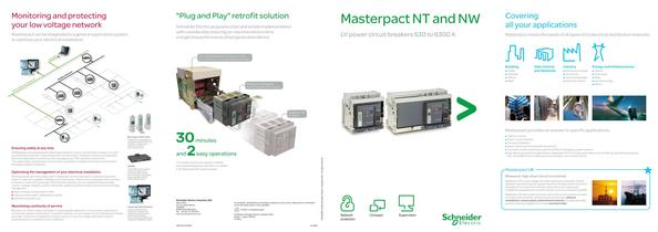 Masterpact NT and NW LV power circuit breakers 630 to 6300 A