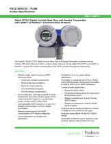 Model CFT51 Digital Coriolis Mass Flow and Density Transmitter with HART® or Modbus™ Communication Protocol