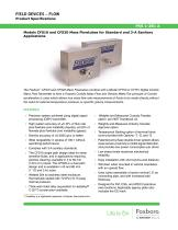 Models CFS10 and CFS20 Mass Flowtubes for Standard and 3-A Sanitary Applications