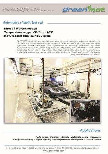 Automotive climatic test cell