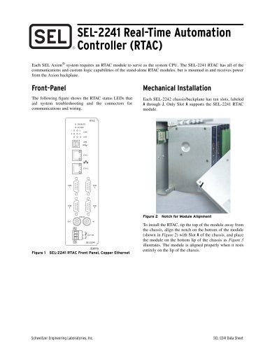 SEL-2241 Real-Time Automation Controller (RTAC)