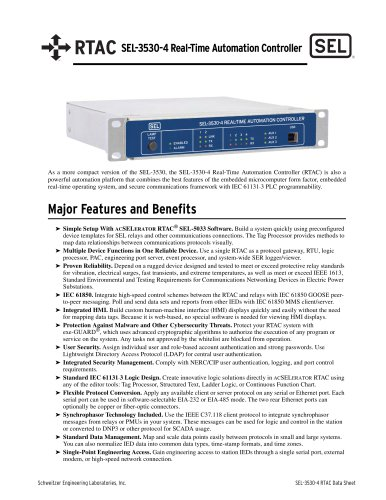 SEL-3530-4 Real-Time Automation Controller (RTAC)
