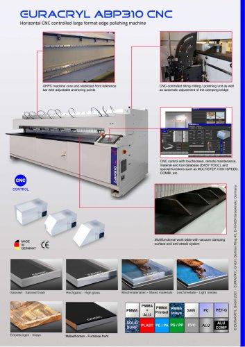 EURACRYL ABP310 CNC - Large format edge polishing machine