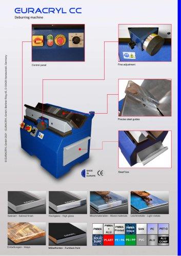 EURACRYL CC - Deburring / polishing machine